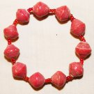 UGANDA PAPER BEADED BRACELET HANDMADE - MEDIUM BEAD #18