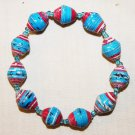 UGANDA PAPER BEADED BRACELET HANDMADE - MEDIUM BEAD #14
