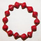 UGANDA PAPER BEADED BRACELET HANDMADE - MEDIUM BEAD #05
