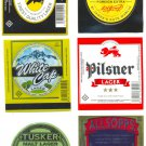 KENYA BEER LABEL SET OF 6 - MINT