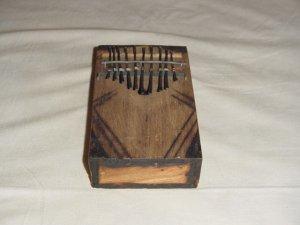 AFRICAN KALIMBA - THUMB PIANO - 10 KEY - KENYA #04