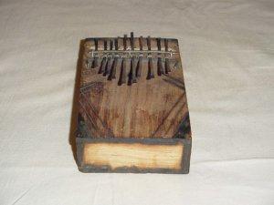 AFRICAN KALIMBA - THUMB PIANO - 10 KEY - KENYA #01