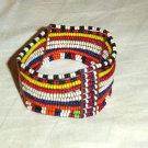 AFRICAN MAASAI (MASAI) BEAD ARM CUFF -STRING -KENYA #01