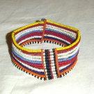 AFRICAN MAASAI (MASAI) BEAD ARM CUFF -STRING -KENYA #07