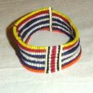 AFRICAN MAASAI (MASAI) BEAD ARM CUFF -STRING -KENYA #06