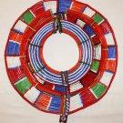 AFRICAN MAASAI (MASAI) COLLAR NECKLACE -KENYA -RARE #22