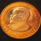 KENYA BIMETAL 10 SHILLING COIN - KENYATTA - 2005 (UNC)