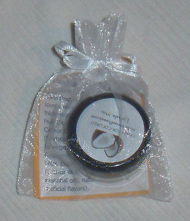 Unflavored natural lip balm.