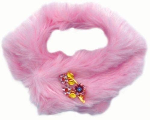 Dog Clothes Pink Faux Mink Stole