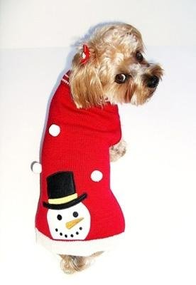 Dog Clothes Adorable Frosty The Snowman Sweater