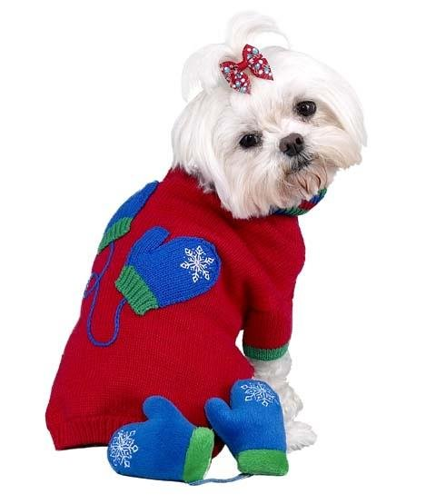 Dog Clothes Adorable Dog Mittens Sweater