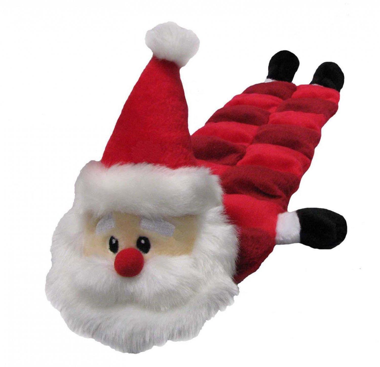 Dog Toys Adorable Long Body Santa Squeaker Mat