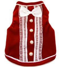 Dog Clothes Adorable Red Tux Tank