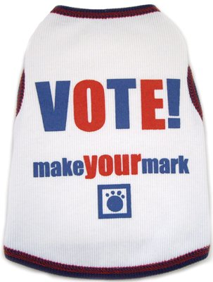 Dog Clothes Adorable Vote - Make Your Own Mark Tank