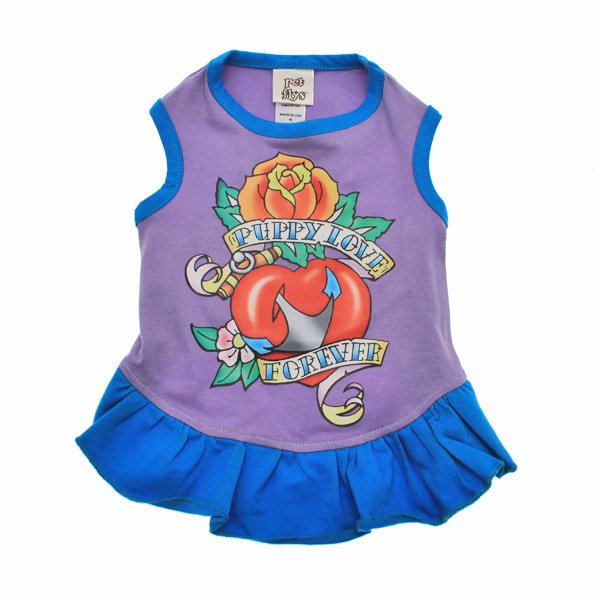 Dog Clothes Adorable Puppy Love Forever Dress