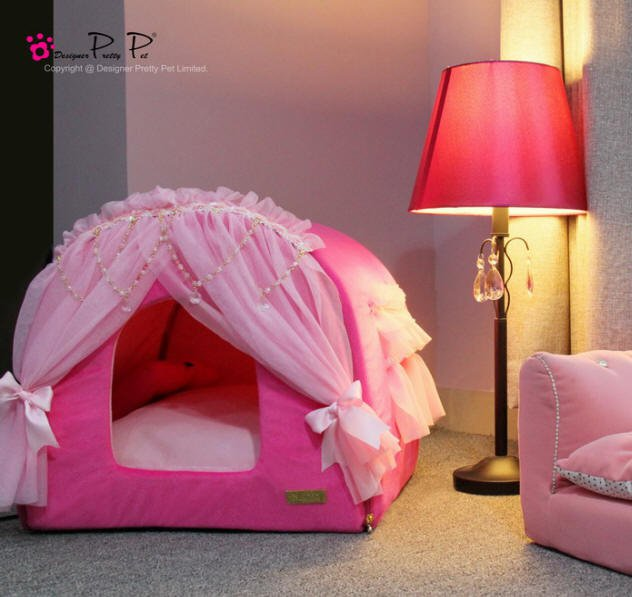 Dog Beds NEW!!  Hot Pink Princess House Bed