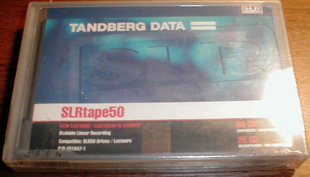 Tandberg  431647 -  SLR50 Data Cartridge, 25/50GB