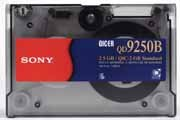 Sony QD9250 , QIC 1/4 in. Data Cartridge, DC9250, 2.5GB