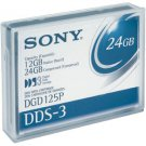 Sony DGD125P -  4mm, DDS-3 Data Cartridge, 125m, 12/24GB