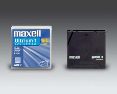 Maxell 183800 LTO-1 Data Cartridge Tape , Ultrium-1, 100/200GB