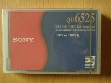 Sony QD6525 -  QIC, DC6525  Data Cartridge, 525MB