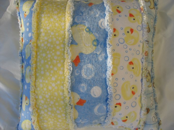 flannel duckie pillow