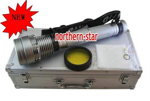 50W/38W HID Silver Torch Light 2 Mode HID Flashlight for outdoor hunting