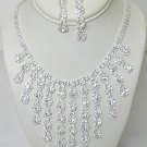 RAYS OF RHINESTONE NECKLACE SET NKR617