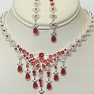 RED RHINESTONE JEWELRY SET NKR676