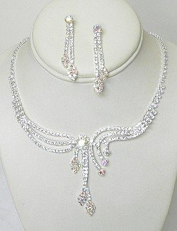 EXQUISITE CONTEMPORARY RHINESTONE SET NKR624
