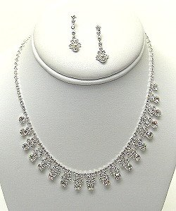 PAGEANT RHINESTONE NECKLACE SET NKR320