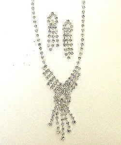 RHINESTONE NECKLACE SET NKR171