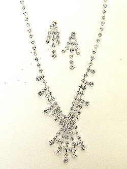 RHINESTONE NECKLACE SET NKR170