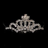SMALL RHINESTONE CROWN TIARA COMB TIA99