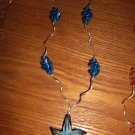 blue necklace with pendant