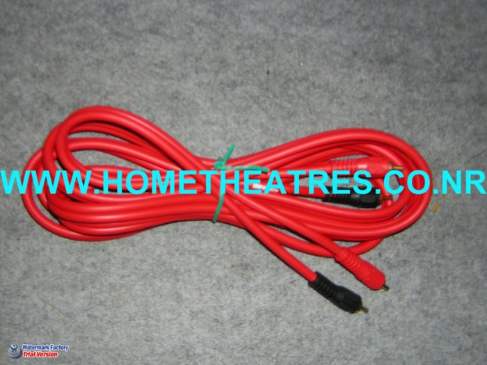 Rs 500 Imported High Quality Gold Plated 2 Way RCA Cable 5 Meters
