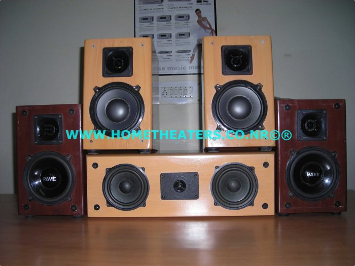 Rs 4500 Rave Acoustics 4 Bookshelf & Center 5 Speaker Package(Old Unsold Stock Clearance Sale)