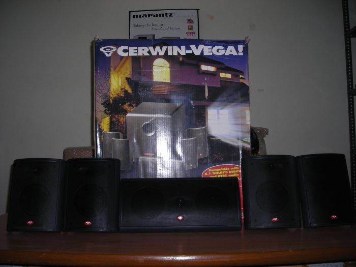 Rs 8000 Cerwin Vega USA Black Center & 4 Surrounds 5 Speaker Pack(Old Stock Clearance Sale)