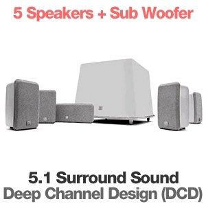 """Rs 30000 Boston Acoustics MCS100 5.1 Speaker Package with 8"""" 100 Watts Subwoofer"""