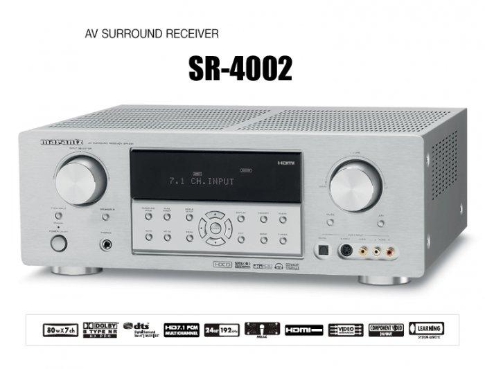 Rs 32300 Marantz SR4002 7.1 PCM decoding for HD Audio from Blu-ray Disc� MRAC 7.1 AV Receiver