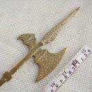 Vintage Bronze Ornament Swiss Guard Pike Spear