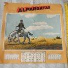 Argentina Molina Campos Gaucho Scene Picture 1943 December Almanac Sheet ORIG