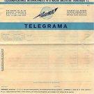 VERY OLD Argentina Transradio Telegram Form UNUSED