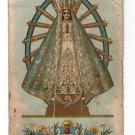 Argentina Virgin Mary of Lujan Holy Card ANTIQUE
