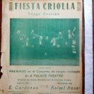 Argentina Fiesta Criolla Creole Party TANGO SHEET MUSIC CARDENAS ROSSI VINTAGE