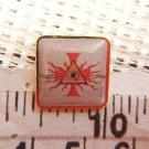 Masonic Freemasonry Mason Crucifix Cross Eye Symbol Shield Emblem Pin
