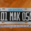 Argentina Collectible Car  Trailer License Plate EXPIRED