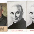 Argentina Don Orione Benefactor Saint  Holy  Card 3 Cards