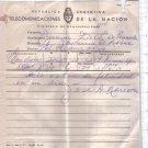 Argentina Original 1950 Postal Telegram San Martin Year #2