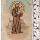 Argentina St Anthony Padova Antonio Padua Holy Card Written in French